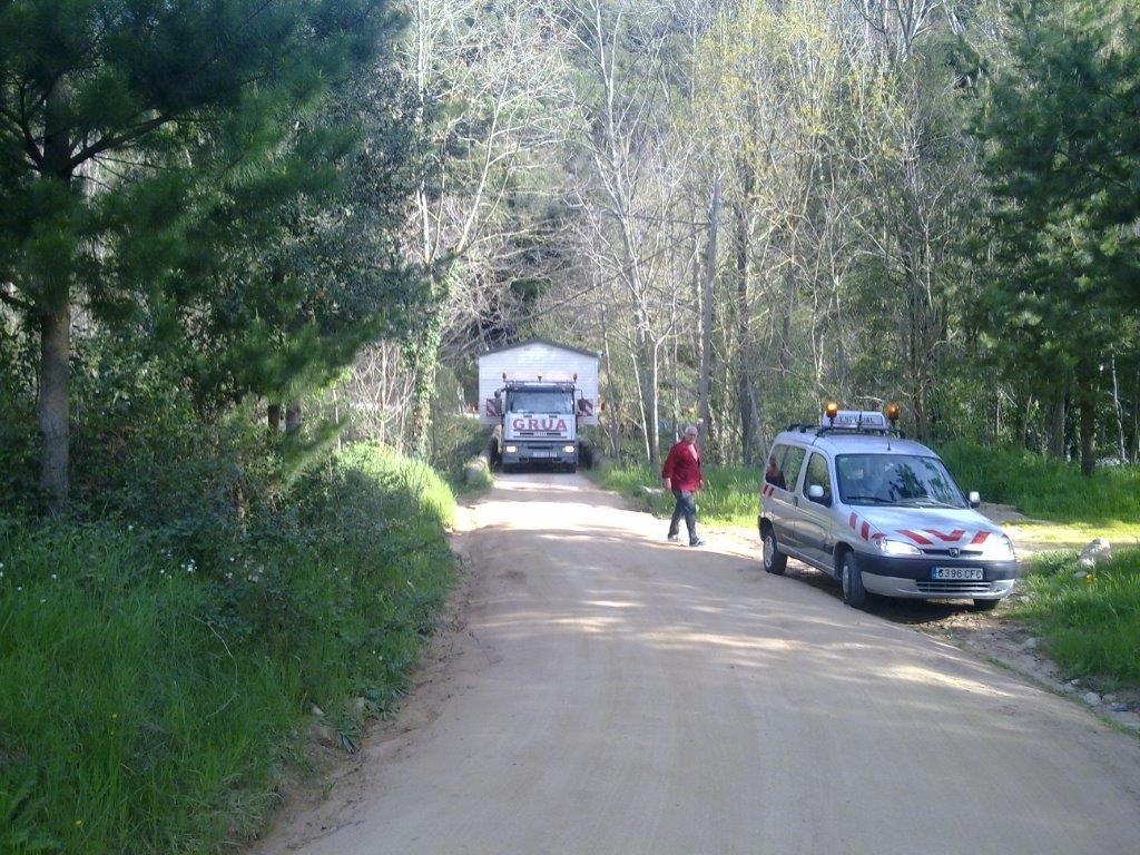 Transporte de módulos y bungalows 7