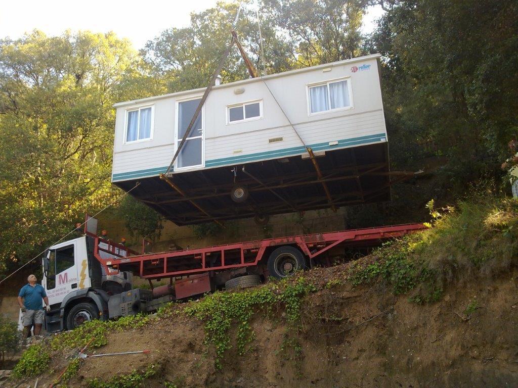 Transporte de módulos y bungalows 3
