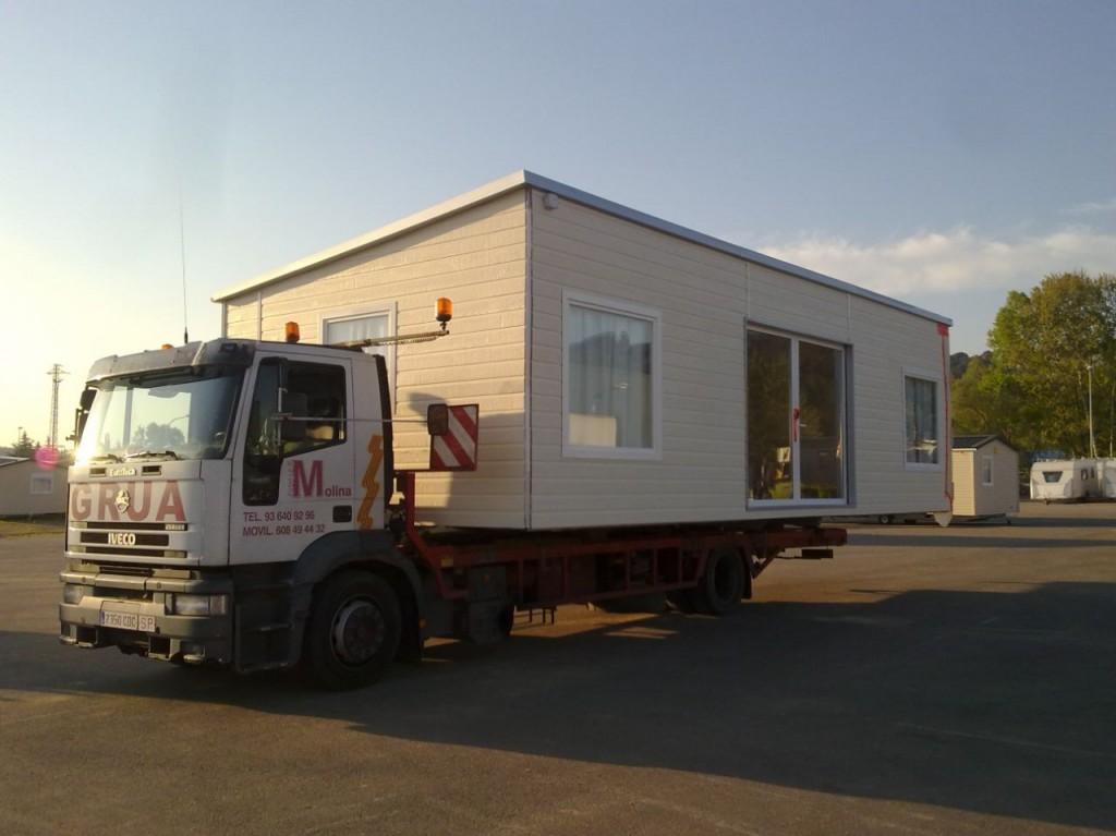 Servicios de transporte de m dulos y bungalows molina gruas - Transporte islas baleares ...